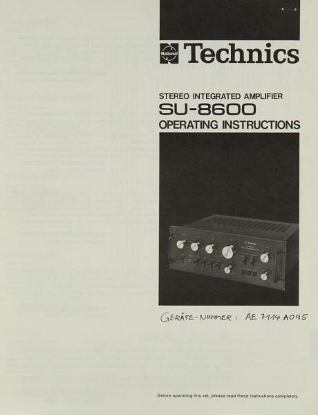 Technics SU-8600 Bedienungsanleitung