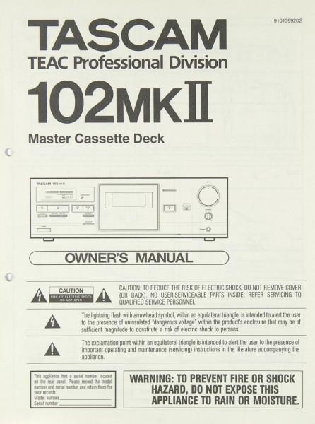 Tascam / Teac 102 MK II Bedienungsanleitung