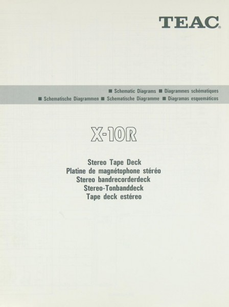 Teac X-10 R Schematics /Service Manual