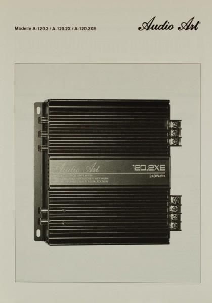 Audio Art Modelle A-120.2 / A-120.2X / A-120.2XE Prospekt / Katalog