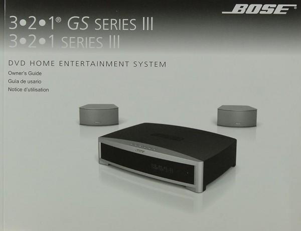 Bose 3.2.1 GS Series III / 3.2.1 Series III Bedienungsanleitung