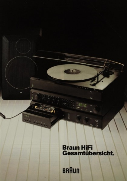 Braun Gesamtübersicht (Nov. 1982) Prospekt / Katalog