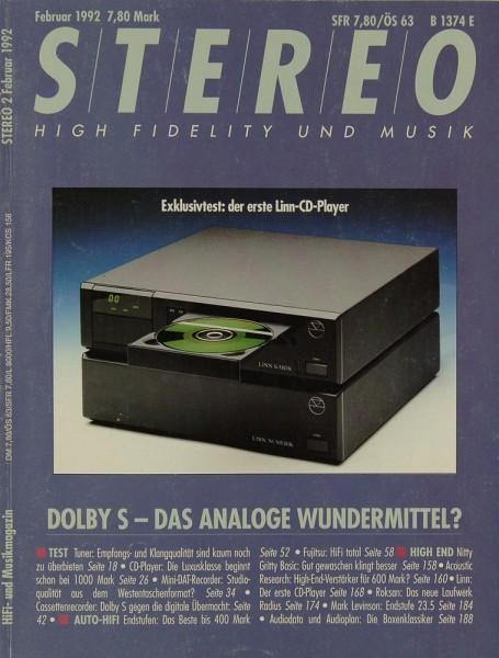 Stereo 2/1992 Zeitschrift