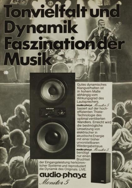 audio-phase Monitor 5 Prospekt / Katalog