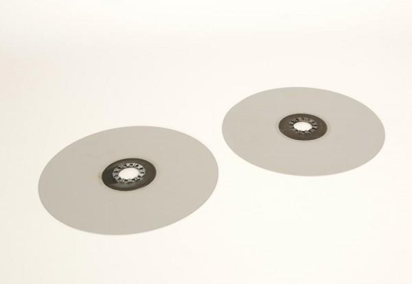 Telefunken Bandteller silbern 30 cm Paar