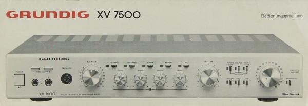 Grundig XV 7500 Bedienungsanleitung