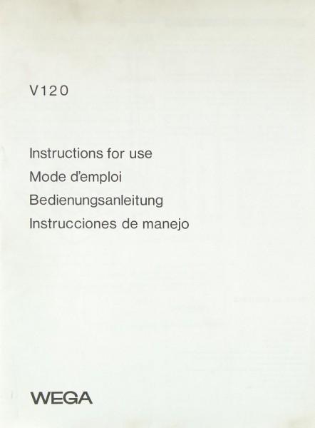 Wega V 120 Bedienungsanleitung