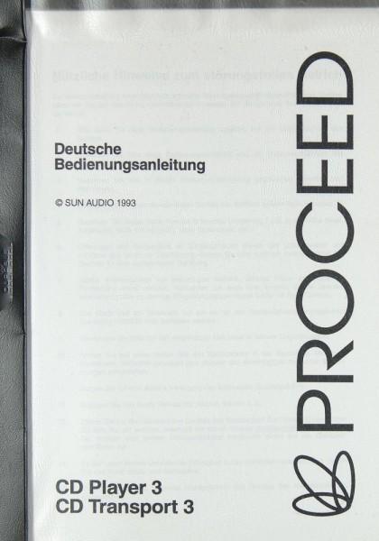 Proceed CD Player 3 / CD Transport 3 Bedienungsanleitung