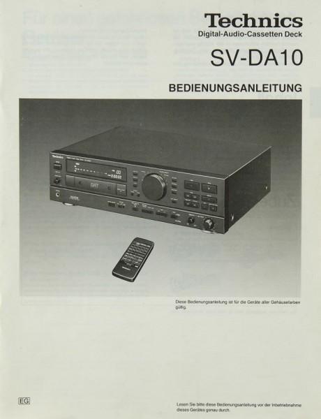 Technics SV-DA 10 Bedienungsanleitung
