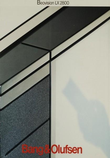 Bang & Olufsen Beovision LX 2800 Prospekt / Katalog