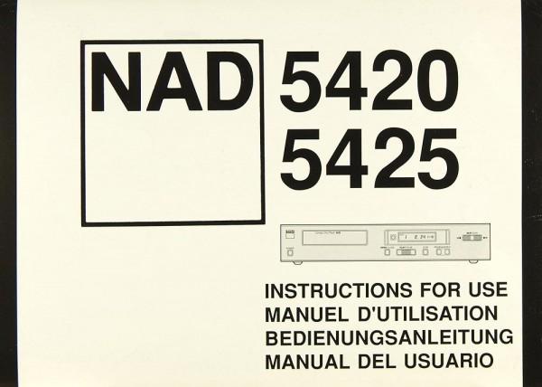 NAD 5420 / 5425 Bedienungsanleitung