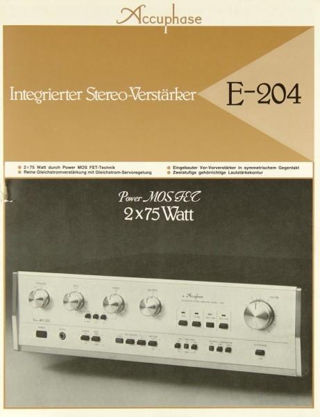 Accuphase E-204 Prospekt / Katalog