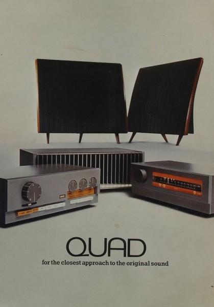 Quad For the closest approach to the original sound Prospekt / Katalog