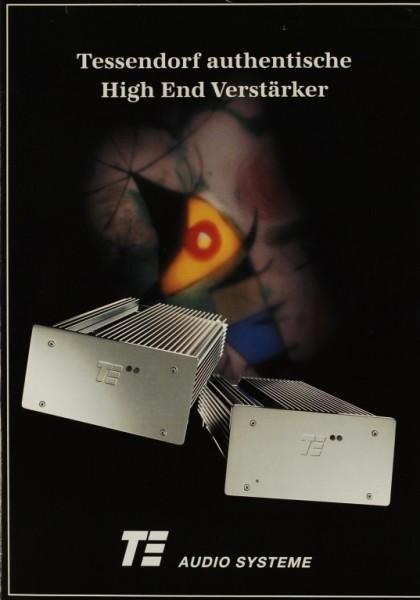 TE Audio Systeme Tessendorf authentische High End Verstärker Prospekt / Katalog