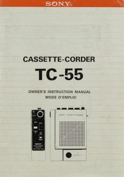 Sony TC-55 Bedienungsanleitung