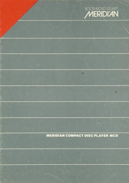 Meridian MCD Bedienungsanleitung