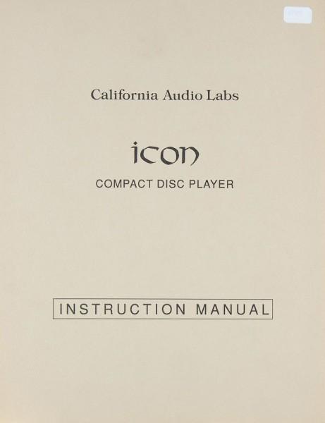 California Audio Labs Icon Bedienungsanleitung