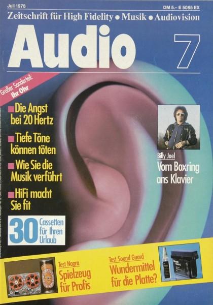 Audio 7/1978 Zeitschrift