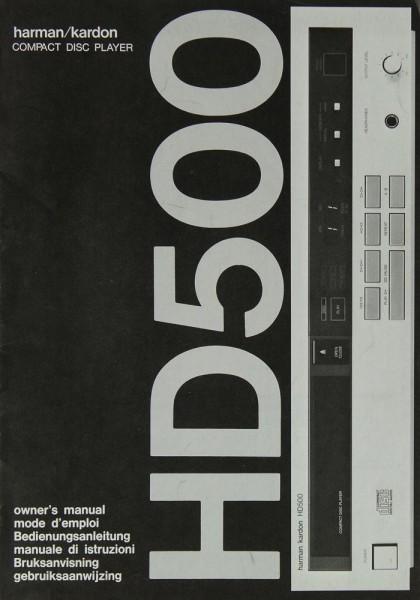 Harman / Kardon HD 500 Bedienungsanleitung