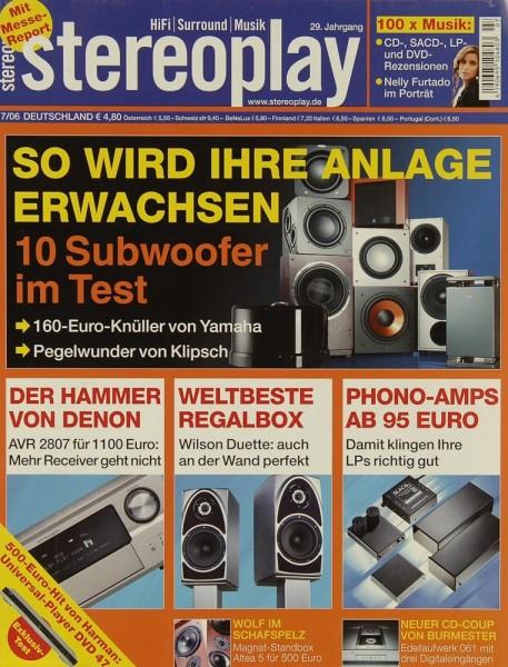 Stereoplay 7/2006 Zeitschrift
