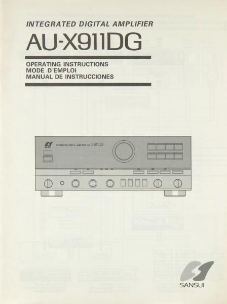 Sansui AU-X 911 DG Bedienungsanleitung