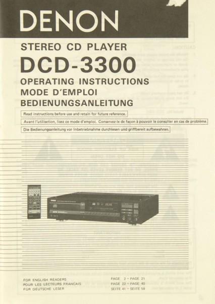 Denon DCD-3300 Bedienungsanleitung