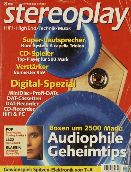 Stereoplay 8/1996 Zeitschrift
