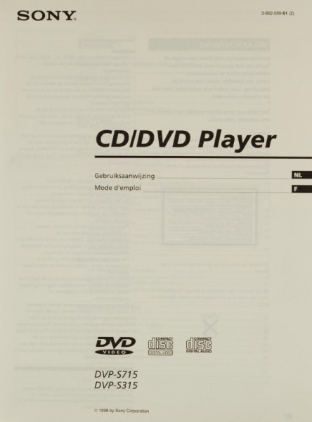 Sony DVP-S 715 / DVP-S 316 Bedienungsanleitung