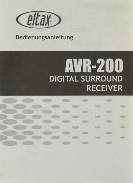 Eltax AVR-200 Bedienungsanleitung