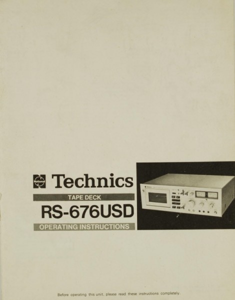Technics RS-676 USD Bedienungsanleitung