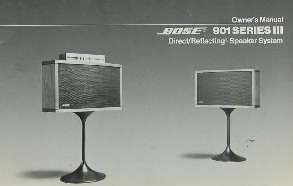 Bose 901 Series III Bedienungsanleitung