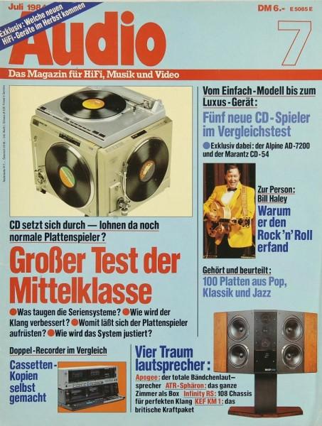 Audio 7/1984 Zeitschrift