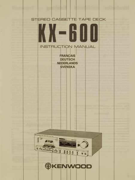 Kenwood KX-600 Bedienungsanleitung