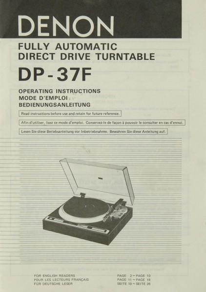 Denon DP-37 F Bedienungsanleitung