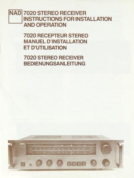 NAD 7020 Bedienungsanleitung