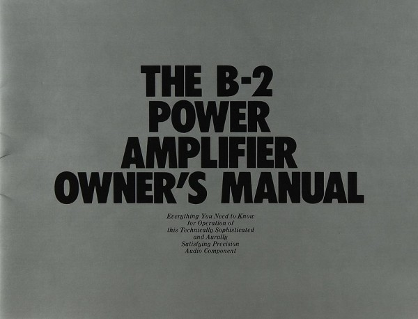 Yamaha B-2 Bedienungsanleitung