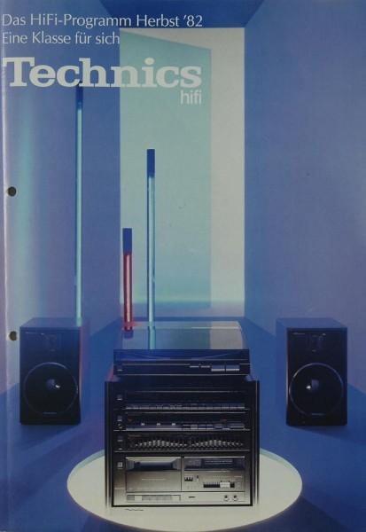 Technics Das Hifi-Programm Herbst ´82 Prospekt / Katalog