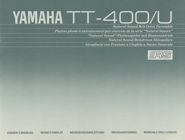 Yamaha TT-400/U Bedienungsanleitung