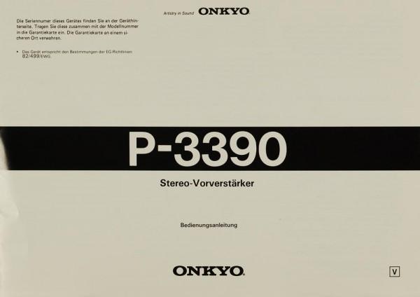 Onkyo P-3390 Bedienungsanleitung
