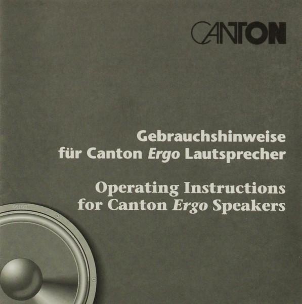 Canton Gebrauchshinweise Bedienungsanleitung