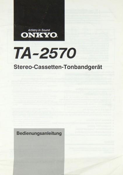 Onkyo TA-2570 Bedienungsanleitung