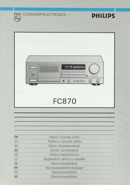 Philips FC 870 Bedienungsanleitung
