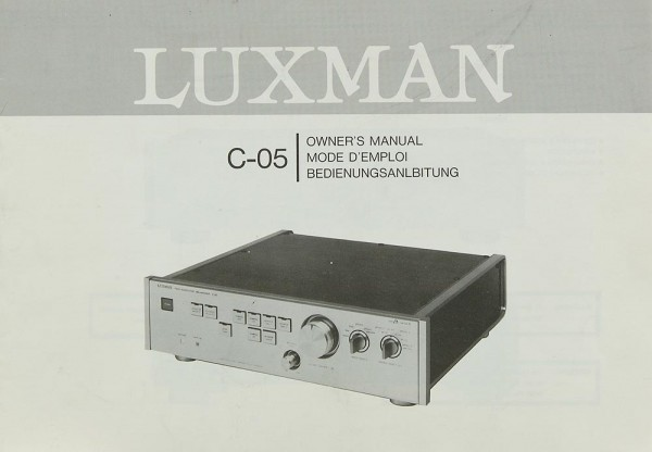 Luxman C-05 Bedienungsanleitung