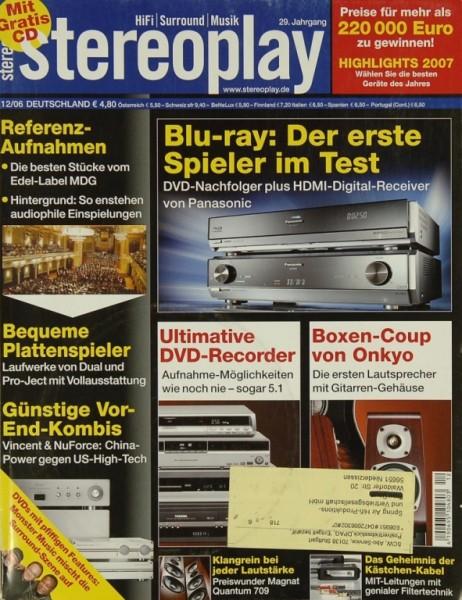 Stereoplay 12/2006 Zeitschrift