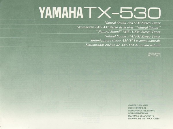 Yamaha TX-530 Bedienungsanleitung