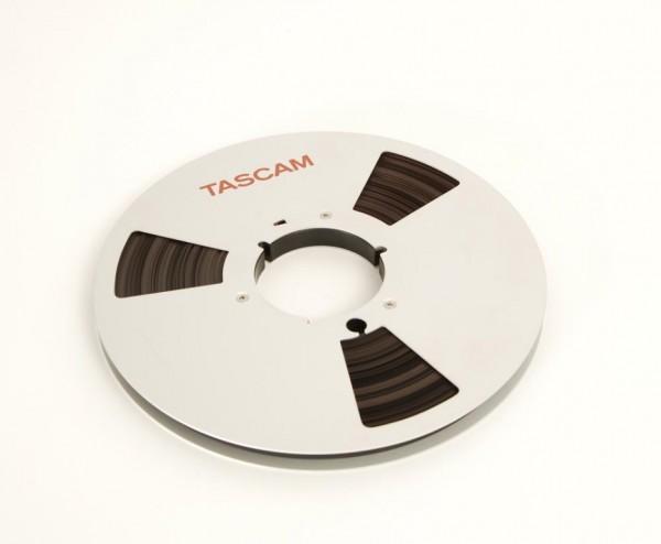 Tascam Tonbandpule mit Band 27 er Metall 1/2 Zoll NAB silbern