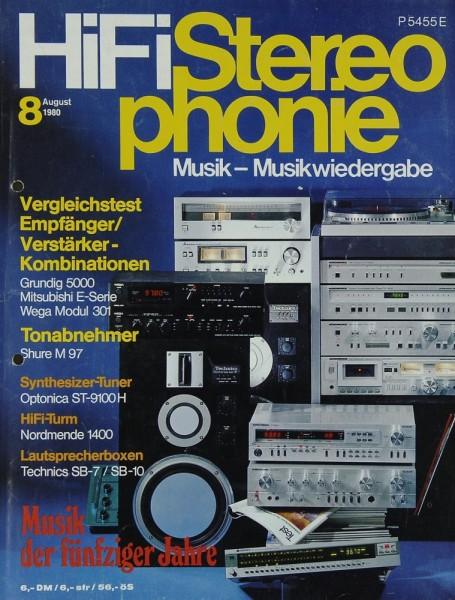 Hifi Stereophonie 8/1980 Zeitschrift