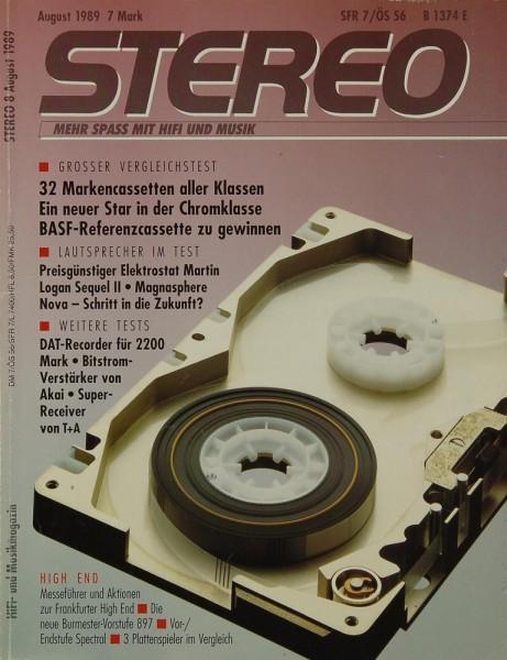 Stereo 8/1989 Zeitschrift