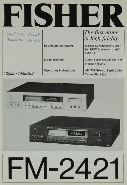 Fisher FM-2421 Bedienungsanleitung