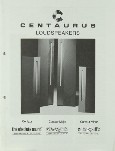 Centaurus Loudspeakers Prospekt / Katalog